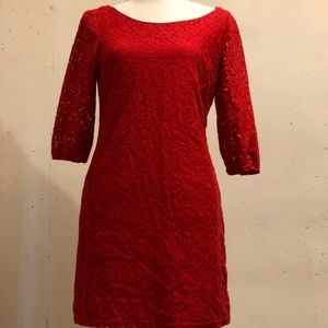 Red Charming Charles Dress Size Medium
